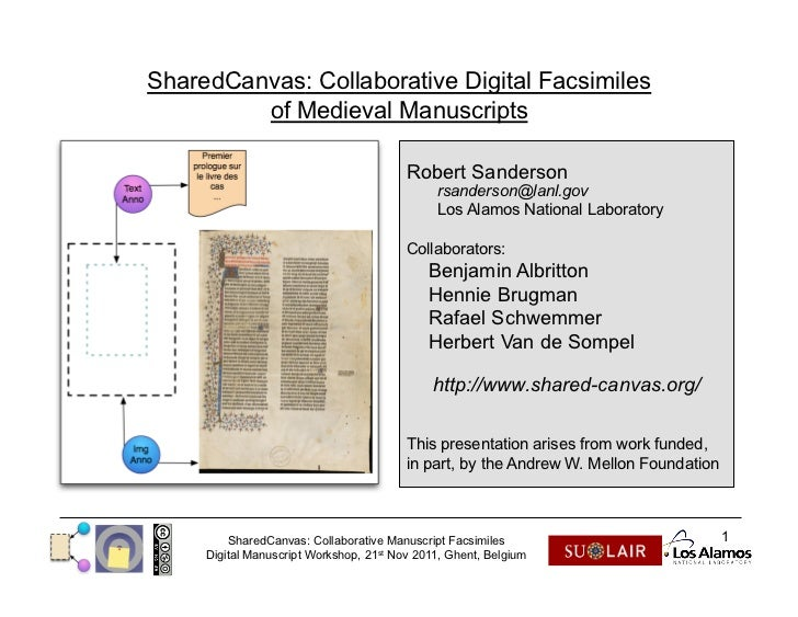 SharedCanvas: Collaborative Digital Facsimiles         of Medieval Manuscripts                                         Rob...