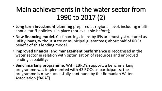 Future consolidation in the water sector