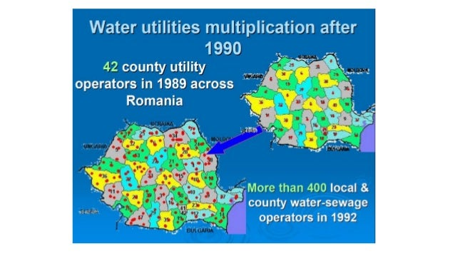Regionalization of water supply and waste water collection and treatment services