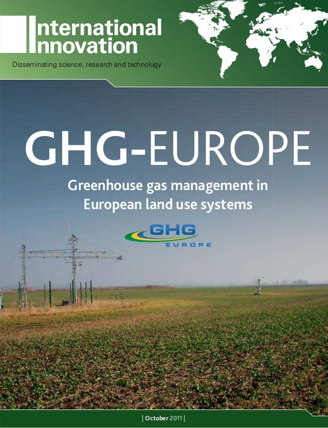 Disseminating science, research and technology   GHG-EUROPE    Greenhouse gas management in                   European lan...