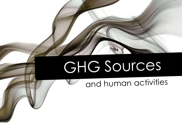 GHG Sources and human activities