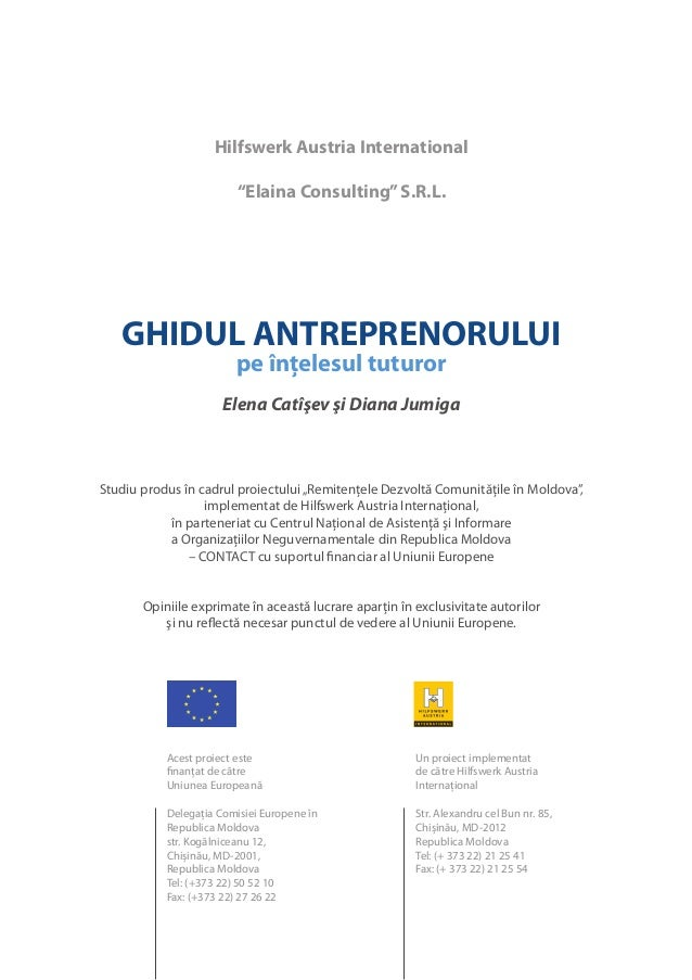 "Hilfswerk Austria International                         ""Elaina Consulting"" S.R.L.   GHIDUL ANTREPRENORULUI               ..."