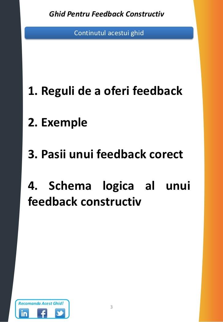 Ghid pentru feedback constructiv