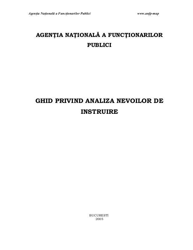 Agenţia Naţională a Funcţionarilor Publici           www.anfp-map     AGENŢIA NAŢIONALĂ A FUNCŢIONARILOR                  ...