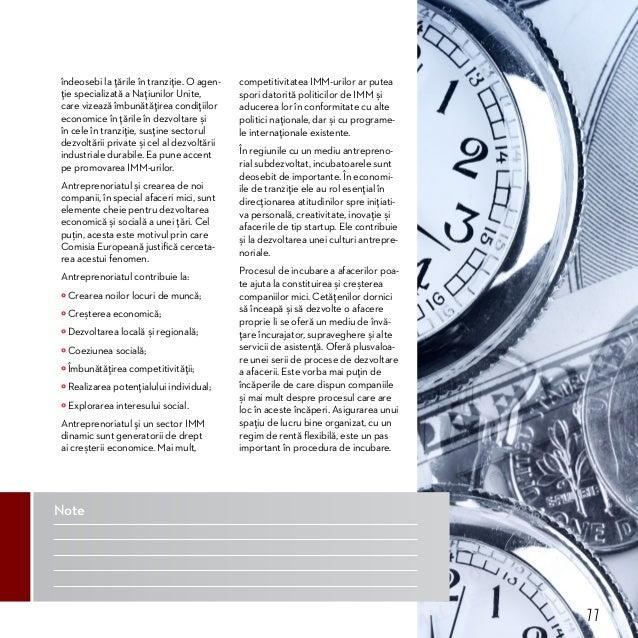 Bune practici în gestionarea incubatoarelor de afaceri  Incubatoarele de Afaceri în Dezvoltarea Sectorului IMM Strategii I...