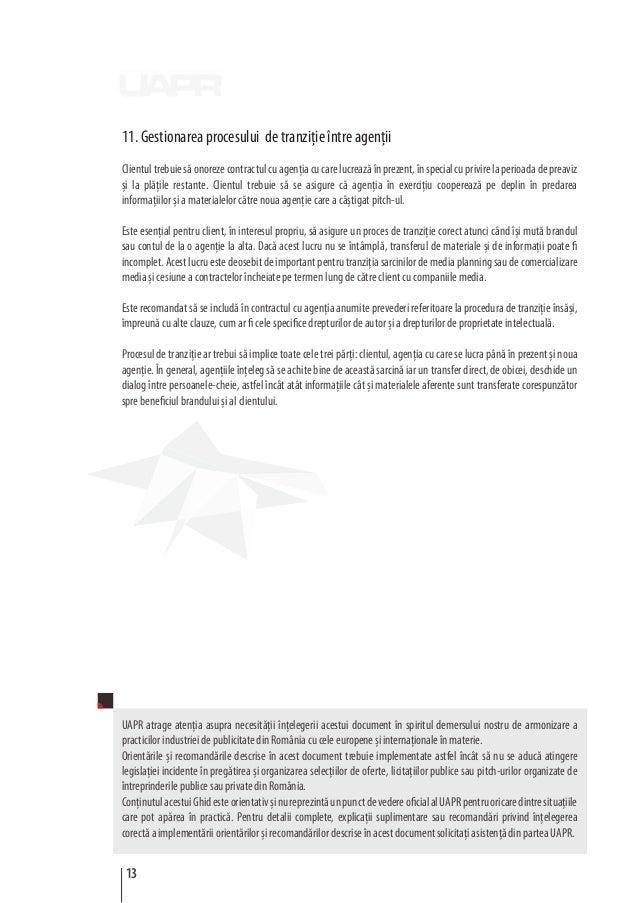 11. Gestionarea procesului de tranziţie între agenţii Clientultrebuiesăonorezecontractulcuagenţiacucarelucreazăînprezent,î...