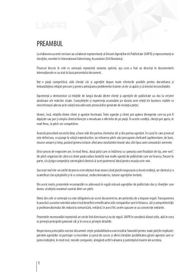 PREAMBUL LaelaborareaacesteiversiuniaucolaboratreprezentanţiaiUniuniiAgenţiilordePublicitate(UAPR)șireprezentanţiai clienţ...