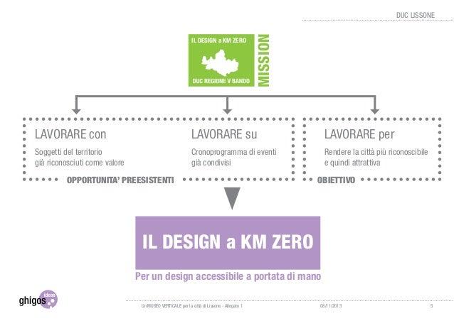 1.4 Filosofia di progetto Gli elementi che si ritiene importante valorizzare nella filosofia progettuale qui proposta sono...
