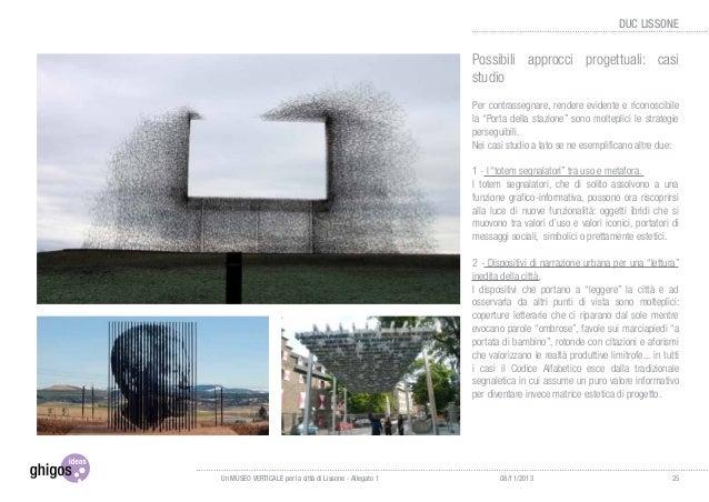 3.1 Abaco tipologie di progetto Semafori Cartelli Sculture Punti design 2630/11/2013 DUC LISSONE Dissuasori pedoni/ veicol...