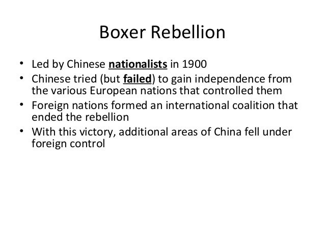 impact of boxer rebellion on chinas world relations The boxer rebellion by: priya jhajj effect people involved ~men of shandong training with martial arts.