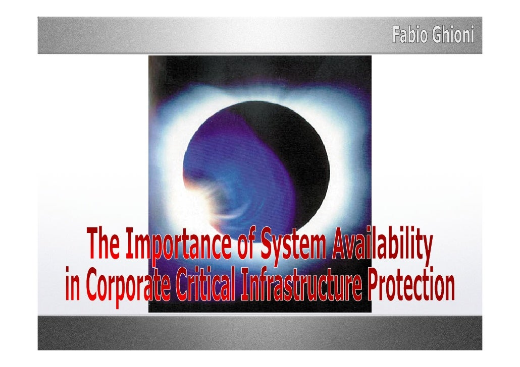 INDEX 1.   Asymmetric Warfare e.g. Unrestricted Warfare 2.   Definition of Critical Infrastructure 3.   A Network of Inter...