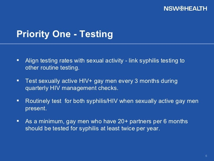 National Gay Men s Syphilis Action Plan NGMSAP
