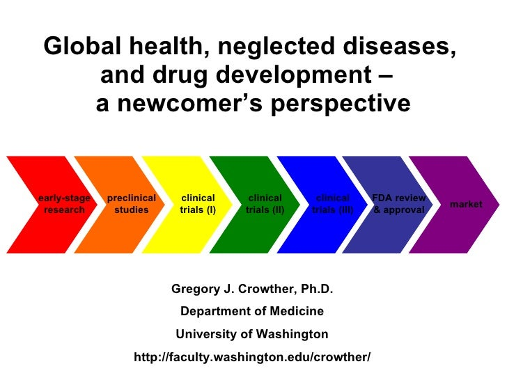 Global health, neglected diseases, and drug development -- a newcomer's perspective