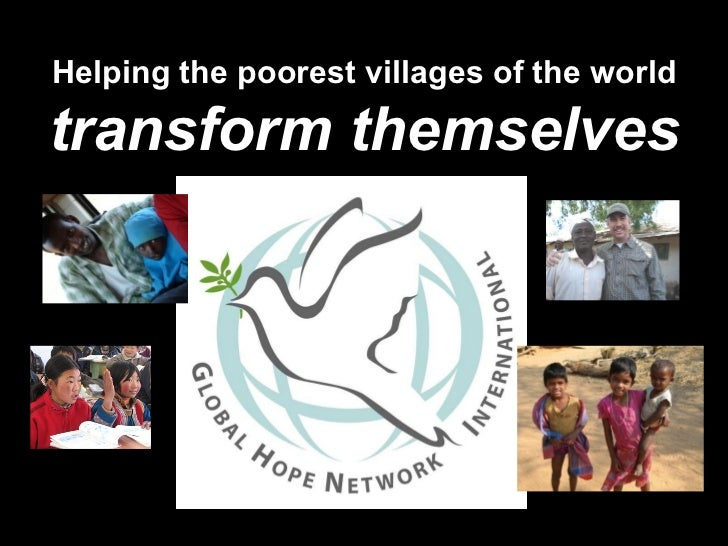 Helping the poorest villages of the worldtransform themselves