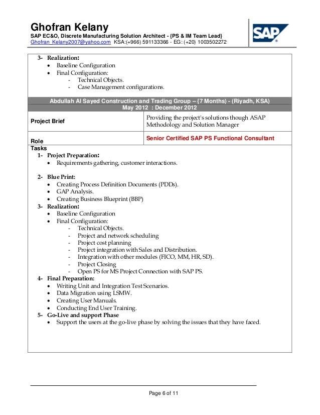 sap architect resume sap architect resume resumeinterview