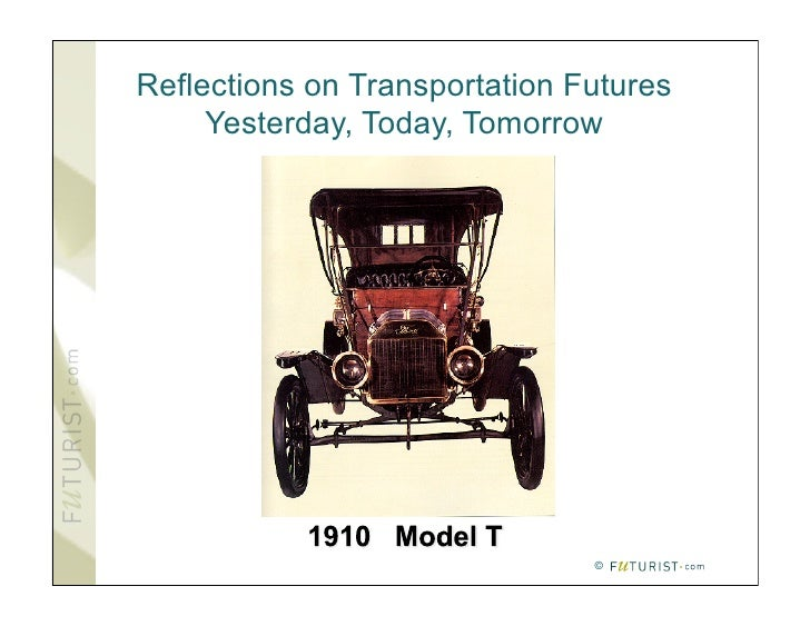Reflections on Transportation Futures      Yesterday, Today, Tomorrow                                    ©
