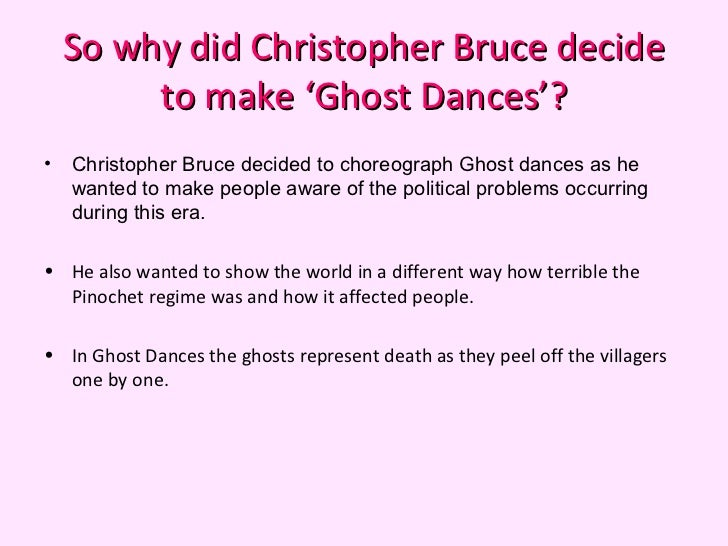 ghost dances by christopher bruce essay