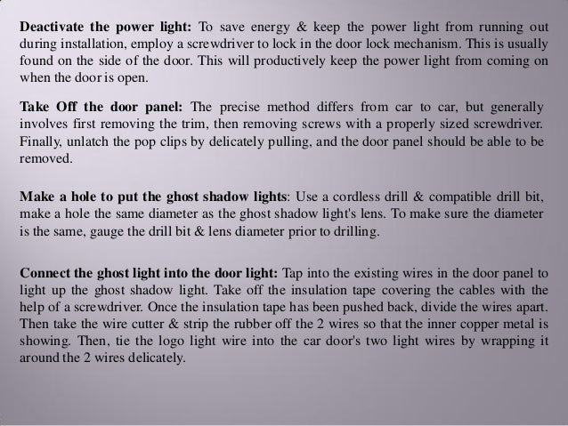 Ghost shadow lights – know how it install it in your car on