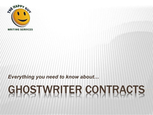 GHOSTWRITER CONTRACTS Everything you need to know about…