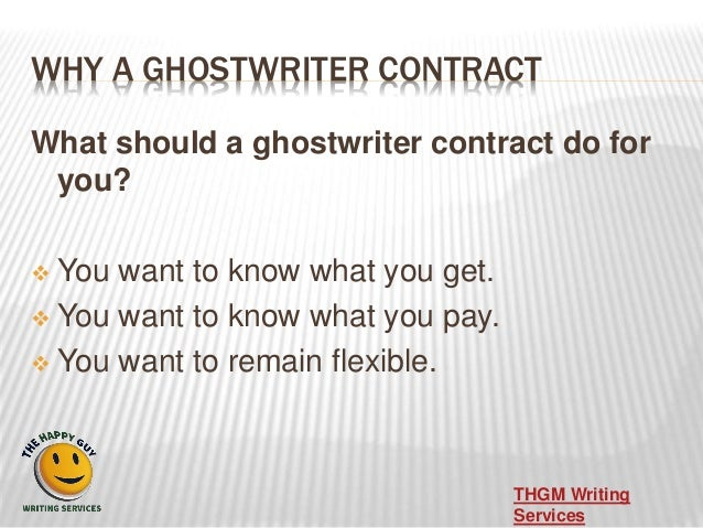 Ghostwriting Contracts
