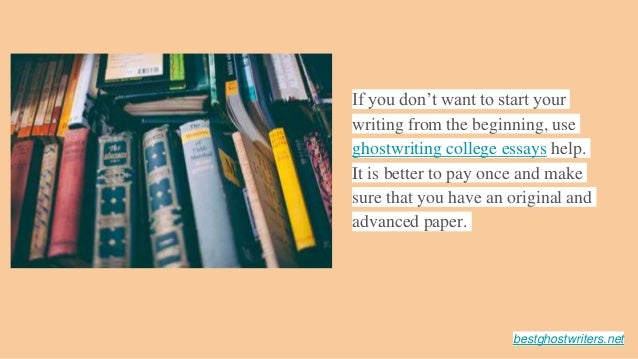 Ghost writer college papers