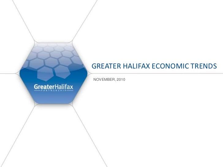 Greater Halifax Economic Trends<br />November, 2010<br />