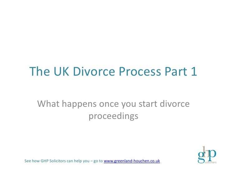 The UK Divorce Process Part 1      What happens once you start divorce                proceedingsSee how GHP Solicitors ca...