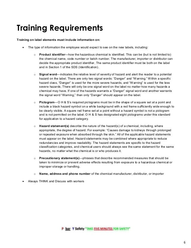 Ghs Compliance Toolkit From P Bar Y Safety Consultants