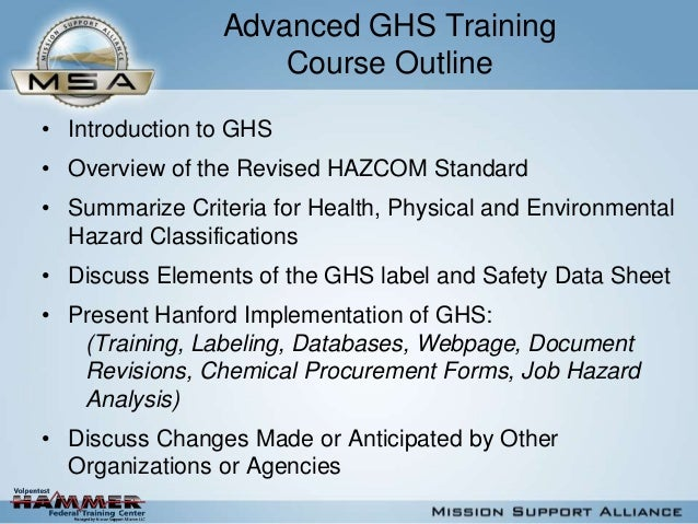 Ghs Introductory By Msa