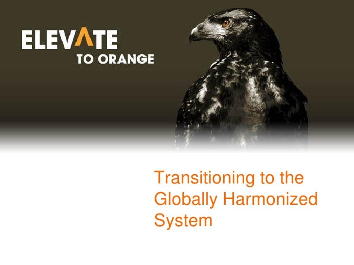 Transitioning to the Globally Harmonized System