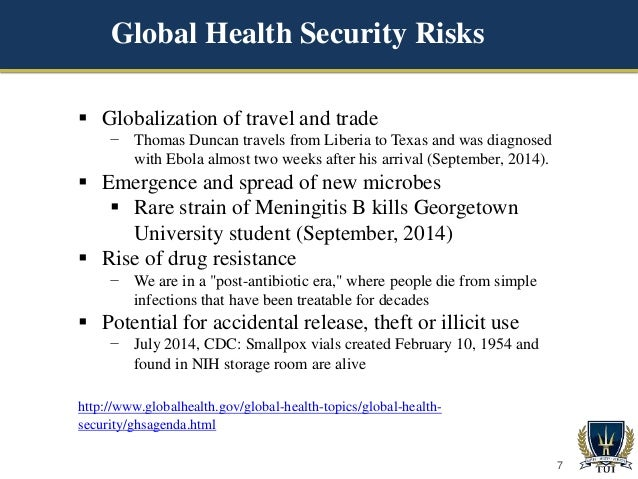 the global public health threats in Implementation of the ihr 2005 and global public health capacity building   and transparent international reporting of potential public health threats to the.