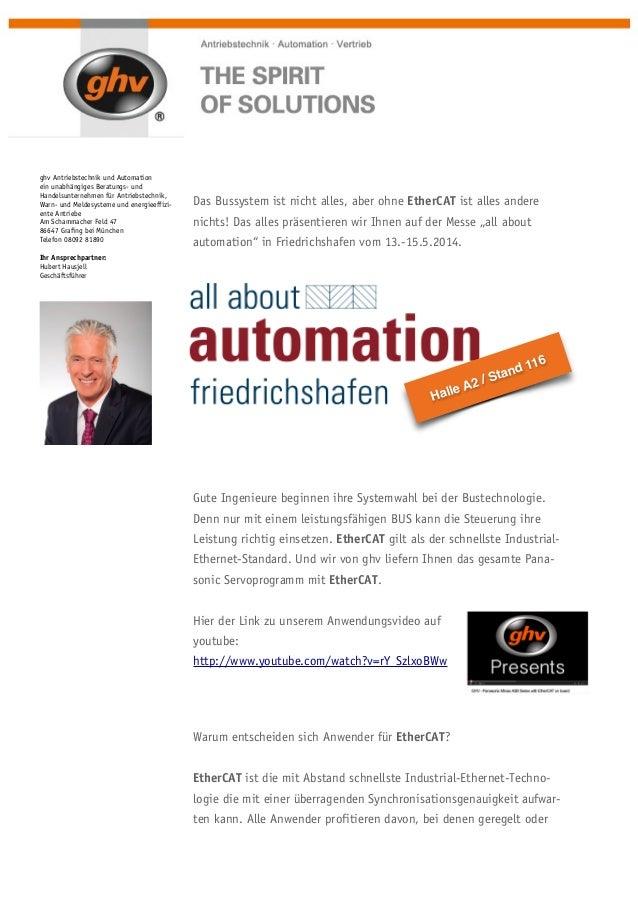 ghv Antriebstechnik und Automation ein unabhängiges Beratungs- und Handelsunternehmen für Antriebstechnik, Warn- und Melde...