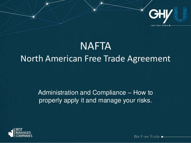 a profile overview of the north american free trade agreement nafta The north american free trade agreement (nafta) is an agreement signed by canada, mexico, and the united states and entered into force on 1 january 1994 in order to establish a trilateral trade bloc in north america.