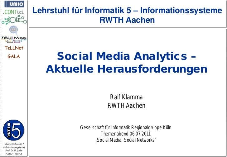 Lehrstuhl für Informatik 5 – Informationssysteme                                           RWTH AachenTeLLNet    GALA     ...