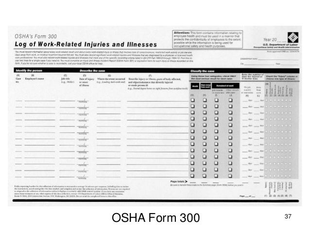 OSHA recordkeeping four hour