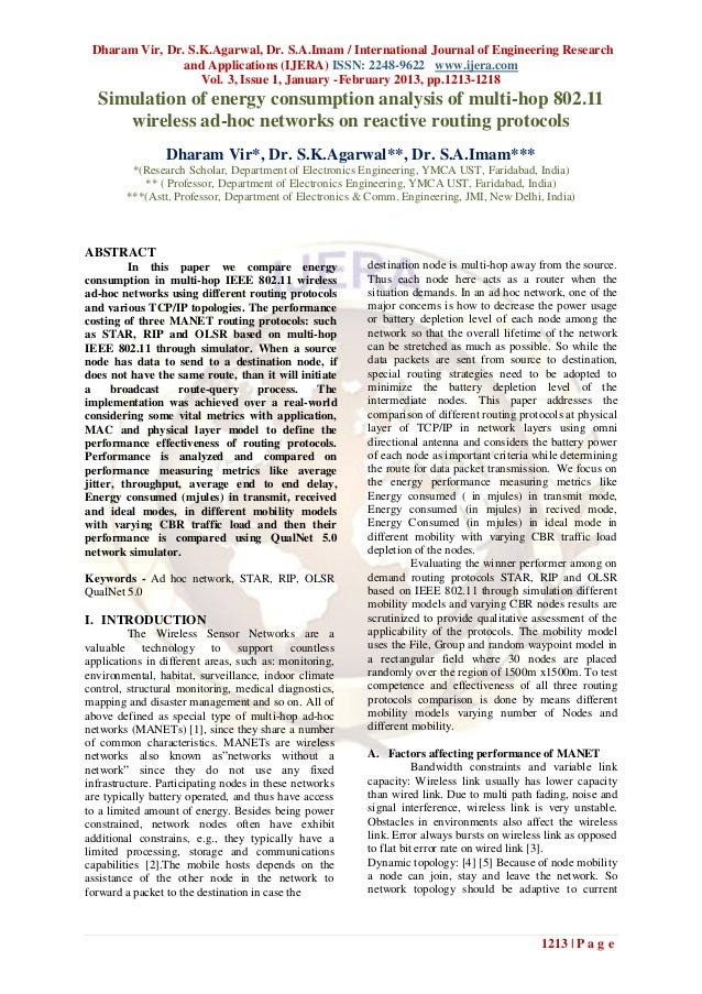 Dharam Vir, Dr. S.K.Agarwal, Dr. S.A.Imam / International Journal of Engineering Research                and Applications ...