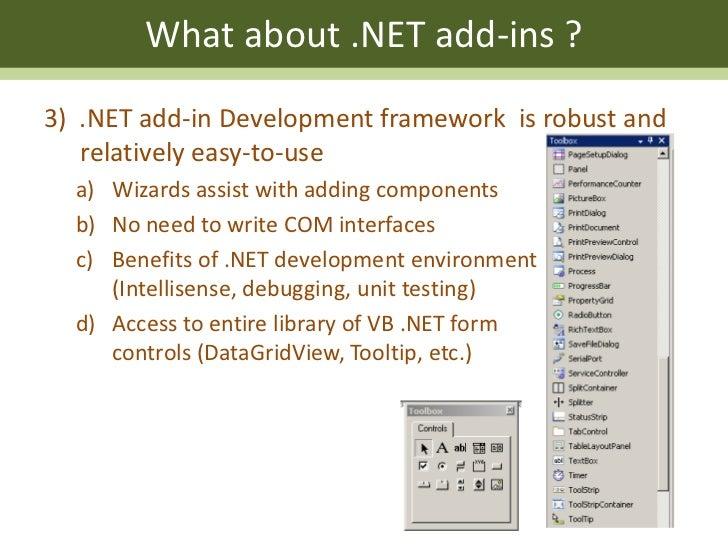 Migrating from VBA to  NET Desktop Add-Ins