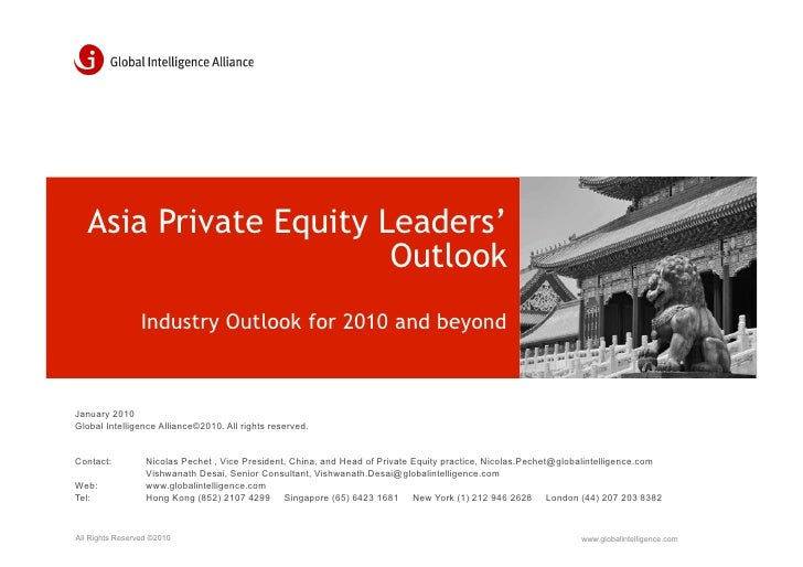 Asia Private Equity Leaders'                         Outlook                  Industry Outlook for 2010 and beyond    Janu...