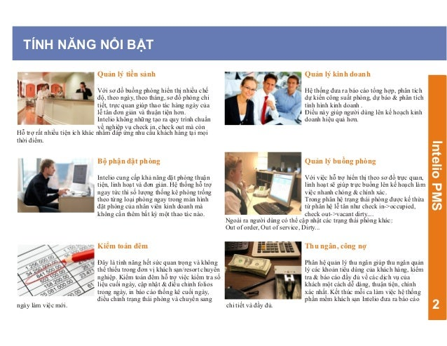 Giải pháp quản lý Khách sạn, Resort Intelio, đa chức năng Slide 3
