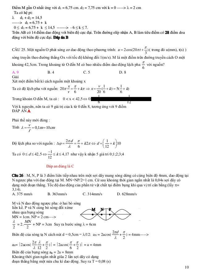 Điểm M gần O nhất ứng với d1 = 6,75 cm. d2 = 7,75 cm với k = 0 ----->  = 2 cm Ta có hệ pt:  d1 + d2 = 14,5 ------> d1 = ...