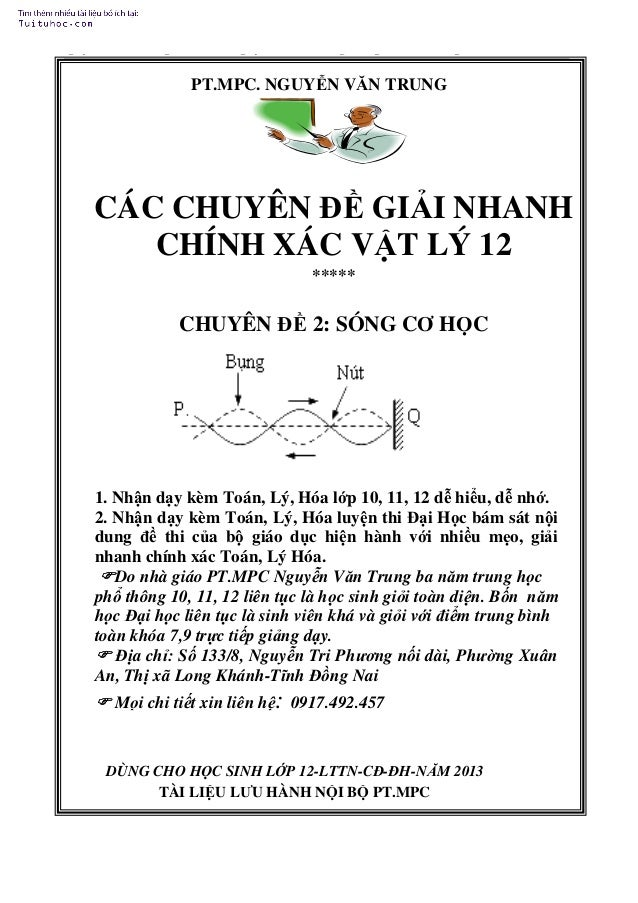 Nguyễn Văn Trung-Số 133/8-Nguyễn Tri Phương-Long Khánh-Đồng Nai- 917.492.457  PT.MPC. NGUYỄN VĂN TRUNG  CÁC CHUYÊN ĐỀ GIẢI...