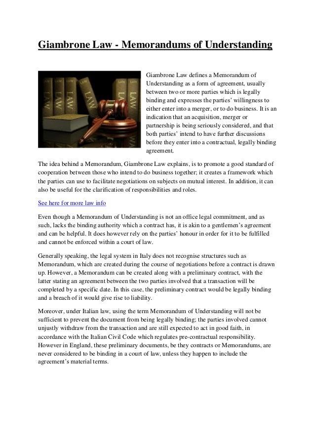 Giambrone Law Memorandums Of Understanding 1 638gcb1352258196