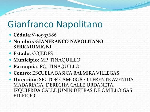 El prontuario de Gian Franco Napolitano Slide 3