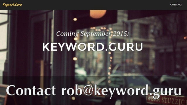 Gianluca Fiorelli's very practical guide to Keyword and Topical Research
