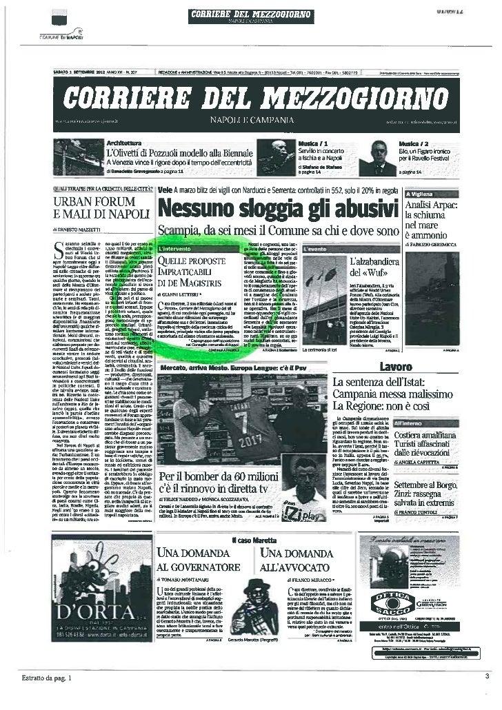 Gianni Lettieri: lettera al corriere del mezzogiorno