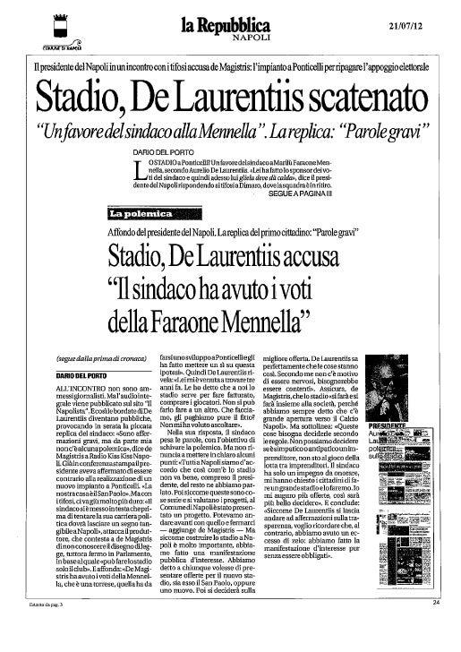 Gianni Lettieri: verità sullo stadio