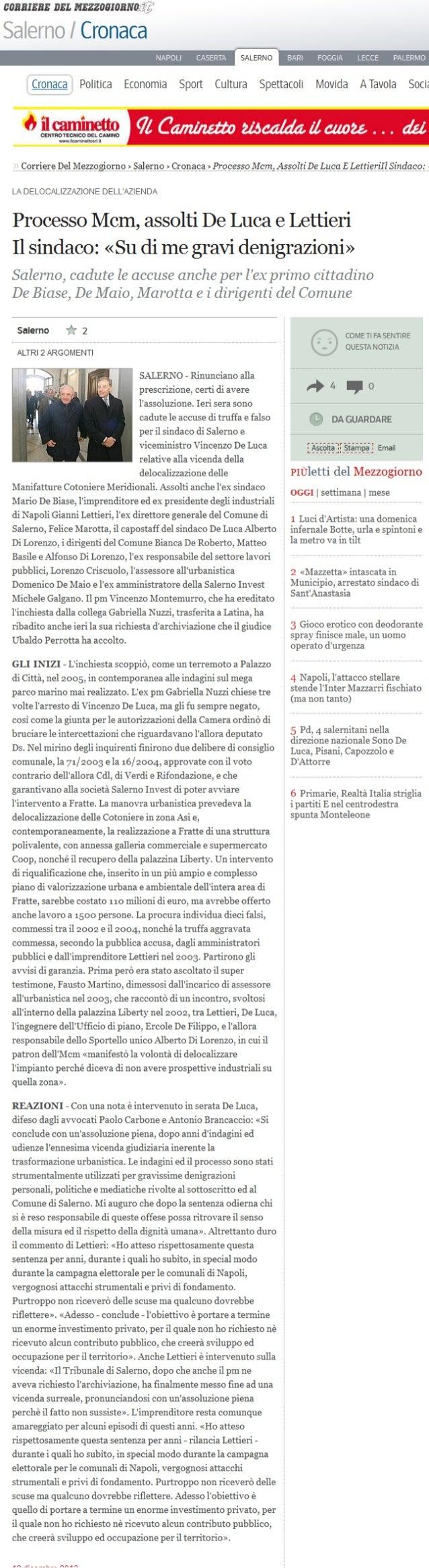 Gianni Lettieri assolto caso mcm