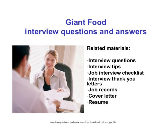 Giant food interview questions and answers