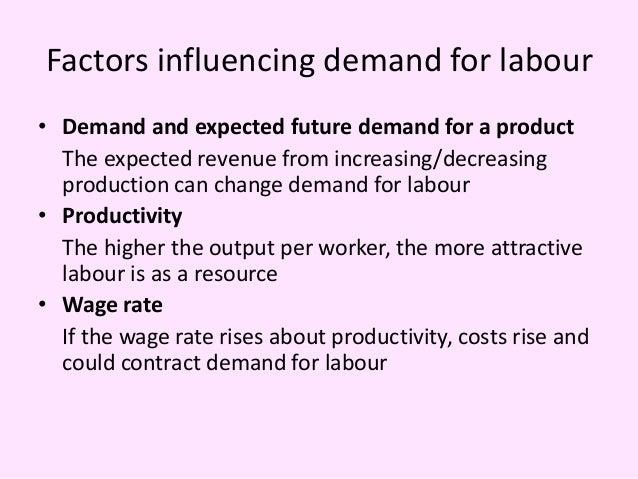 factors affecting demand for labour