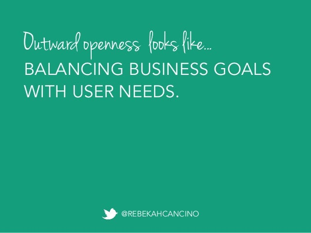 Exponential openness POSSIBILITIES THAT WEREN'T THERE BEFORE